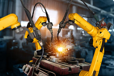 bigstock-Smart-Industry-Robot-Arms-For--382106534